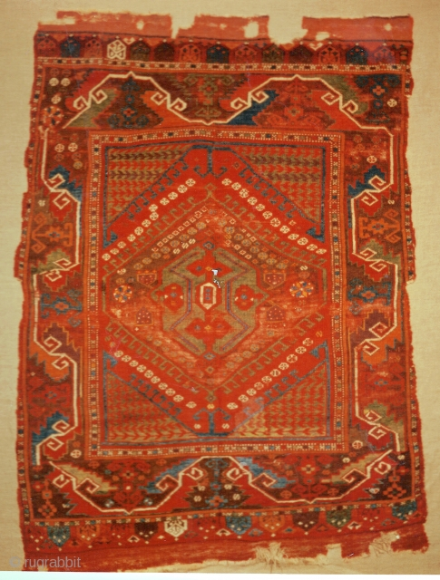 This Karapinar rug was last seen in 1999 at ICOC Milano in a dealer's booth. I ask for anyone who has seen the rug after that time, or who knows it's current  ...