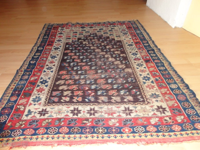 Superb  and  rare  antique   Bergama prayer  rug , mid 19 th. century,