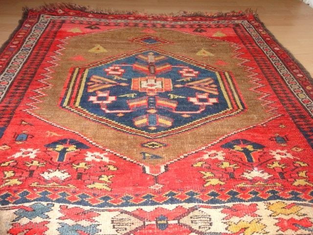 Antique  Bidjar  Wagireh / sampler rug  19  Jh. century  108 X 117 cm.
