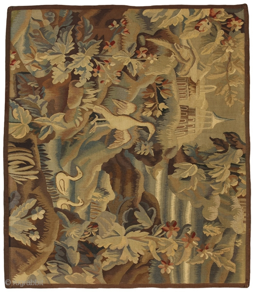 "Antique Tapestry Textile 5'4""x6'2""(165x190cm)