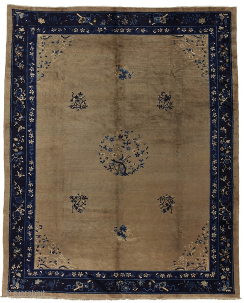 "Peking Chinese Antique Carpet 11'5""x9'3""(349x283cm) See more details here https://www.carpetu2.co.uk/id/ant057-7/Antiques,Offers,Khotan,/"