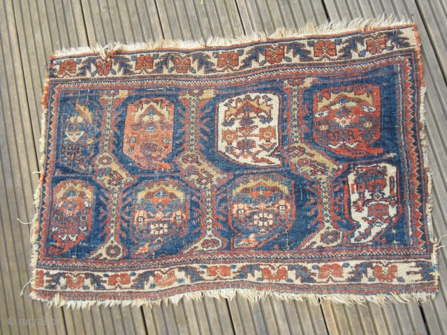 Small antique afshar fragment bagface - very soft handle - 19th c.