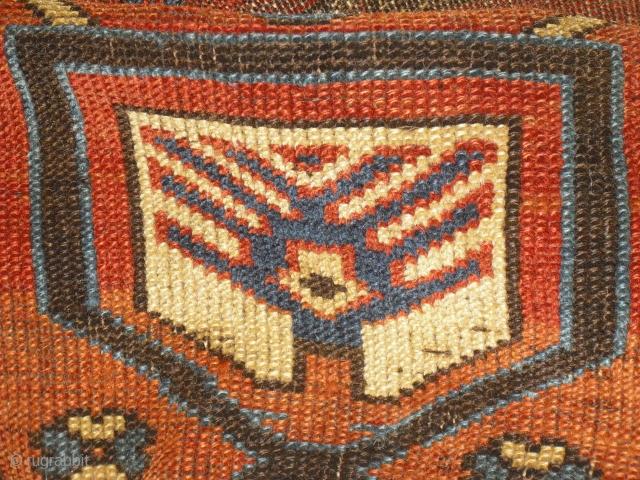 Karabagh Prayer Rug Fragment - around 1880 - great colours, good wool, professional washed