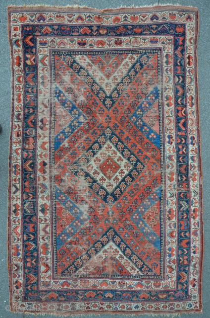 Exceptional Carpet ca. 1870, 128 x 201 cm. I would much appreciate if someone could help me to identify this carpet for which I could not find any analogy. Thanks in advance!