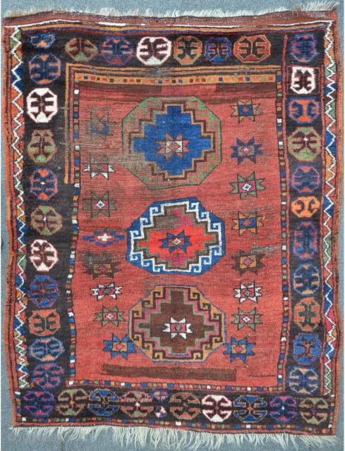 East Anatolian Village Rug, very unique & unconventional composition, 160 x 127 cm