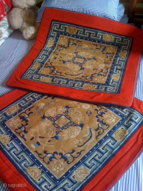 Tibetan Throne carpet 1 pair. Good condition unused...old.