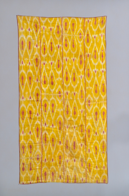 19th Century Uzbek ikat. 81 x 43 inches. Some watermarks