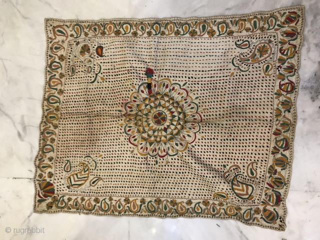 Kantha embroidered cotton Probably From East ( Bangla desh ) region India jaeessore district,