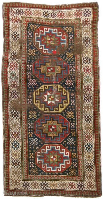 Kazak Rug, 4'5 x 8'6. (Inventory Number 293.) Specially priced for RugRabbit.com...