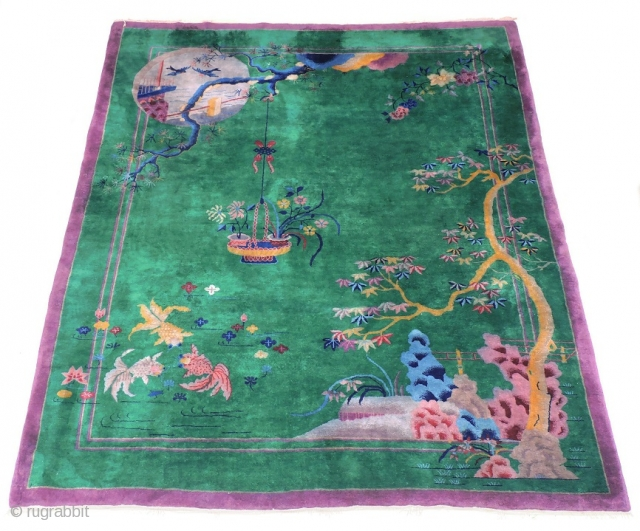 Maple & Co, Chinese, Art Deco rug. C1930