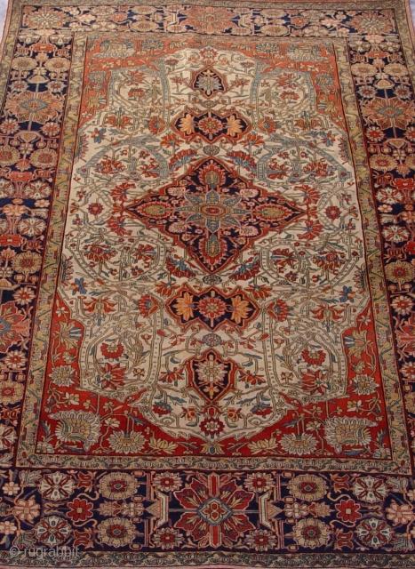 "Persian Mohtasham Kashan rug size 4'4"" x 6'9"" (132 x 206 cm.) exceptional piece, 448 kpsi ,"