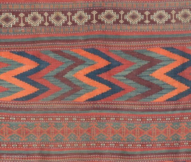 "Baluch Kilim, SE Persia, 19th Century. 4'3"" x 10'9"""