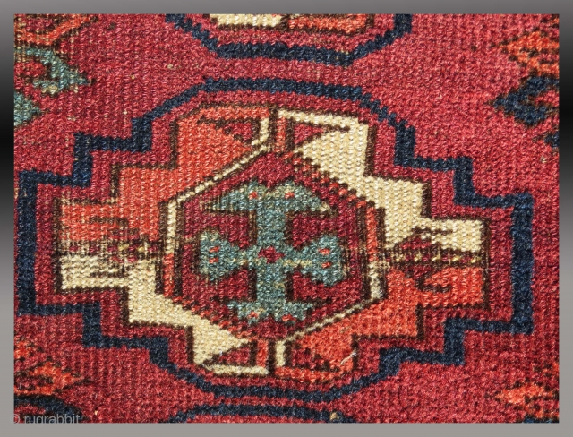 """Ersari(?) """"Chuval"""" (storage bag), Central Asia (middle Amu Darya region), 19th C., 3'6"""" x 2'7""""  Some repair, all natural dyes.  Price - US $1300 + shipping"""