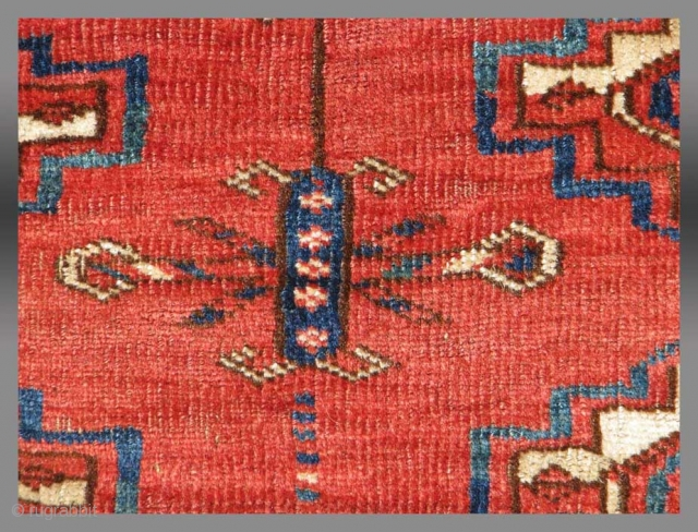 """Tekke Turkmen """"Chuval"""" (storage bag), Central Asia, 19th C., 3'6"""" x 2'5""""  Complete in good condition  Please inquire for further informations/images/price"""