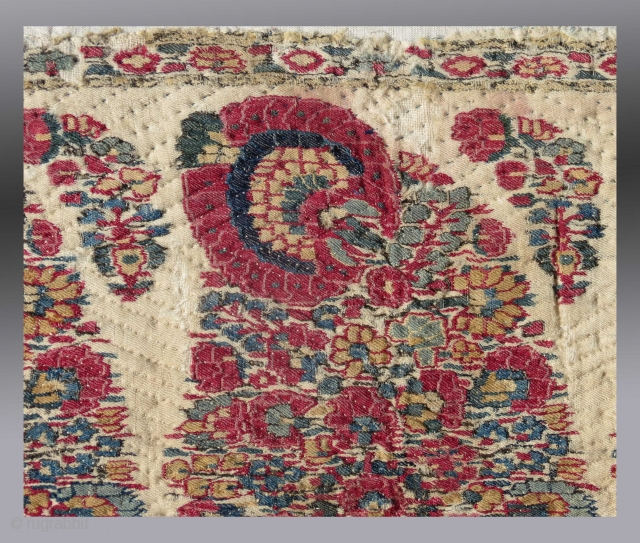 Detail - Shawl Fragment, Kashmir (N. India), circa 1800 or before  Please inquire for more information/images.