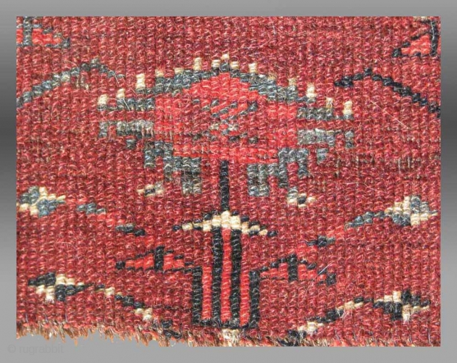"""Yomud Turkmen Chuval, Central Asia, 19th century, 3' 6"""" x 2' 4""""  Please inquire for further information/images/price"""