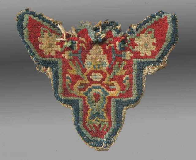 Animal Trapping, Tibet, late 19th Century  Such animal trappings were used by the lead animal in a caravan, often placed on the forehead of the mule or horse in the front.   These are  ...