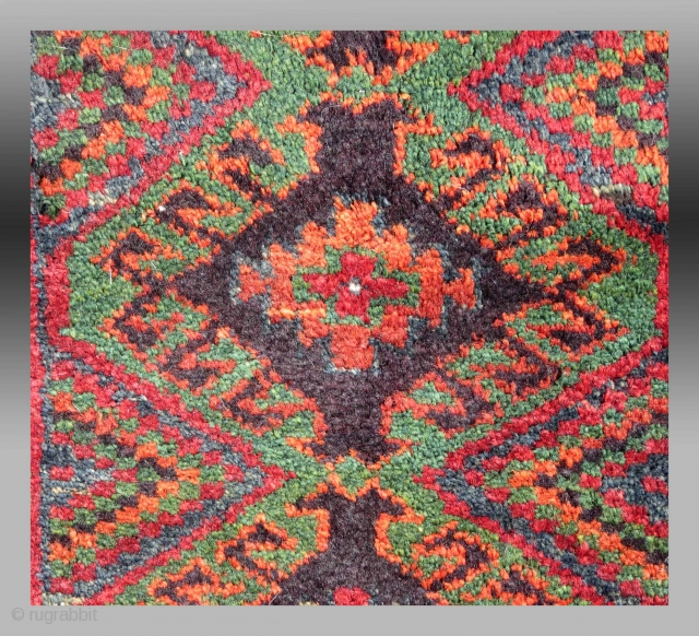 """Baluch """"Balisht"""" (pillow cover), SE Persia, circa 1900, 1'6"""" x 2'6""""  Please inquire for further information/images."""
