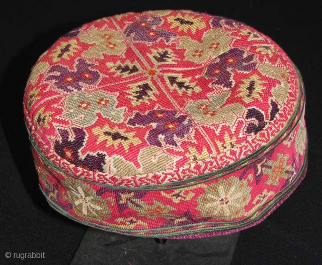Silk Embriodered Hat, Chitral (NW Pakistan), early 20th century