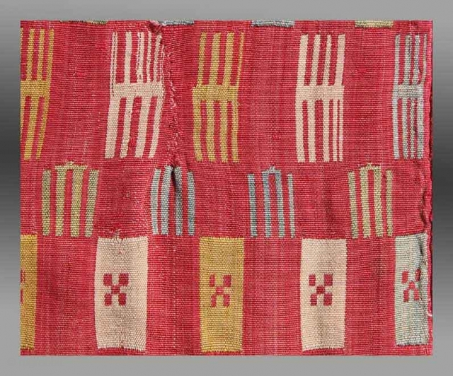 "Shahsavan Silk Jajim (fragment?), NW Persia, 19th century, 2' 10"" x 3' 9""