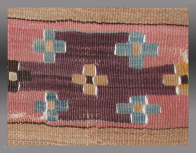 """Anatolian Kilim Fragment, Konya Region(?), 18th century. 2'3"""" x 4'9""""  Ask for more images including details and the overall image, as well as the price."""