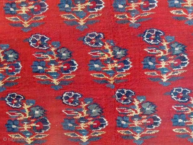 Wool Textile (fragmented), Kashmir (N. India), 19th c. (mounted)
