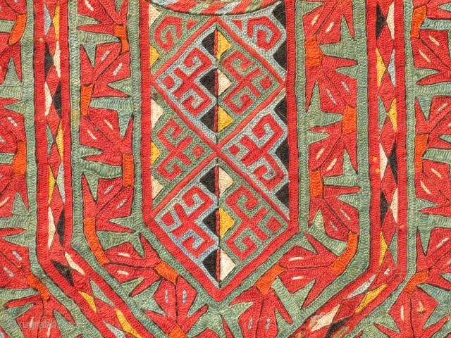 Turkmen Silk Textile, Central Asia, 19th C.