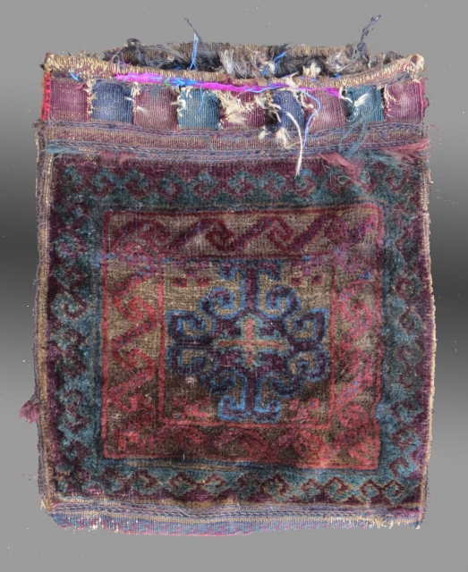 "Baluch Bag, W. Afghanistan, circa 1900?, 1'5"" x 1'8""
