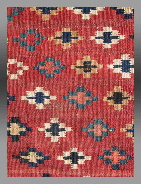 "Baluch Kilim, SE Persia, 19th C.,  4'11"" x 9'8""