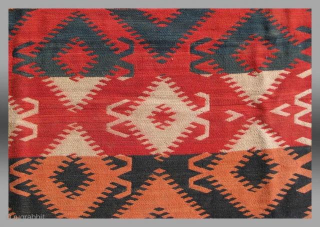 Uzbek Flat Weave, Central Asia, circa 1900, approx 4' x 5'
