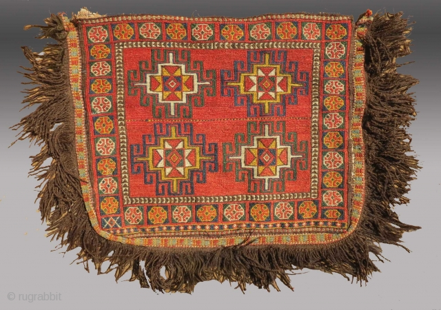 "Arab/Uzbek(?) Bag, Central Asia, late 19th C., 3'6"" x 2'4""