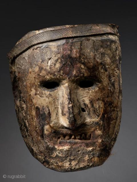 Shamanic Mask Middle Hills Nepal Wood Pigment Rubber