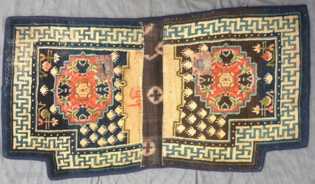 Tibetan saddle rug, Central Tibet, about 1900, 109 x 58 cm