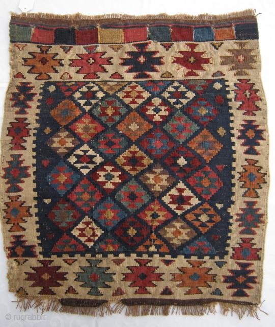 Caucasian bag face. Strong colors, little repair. please ask.  www.tinatabone.com