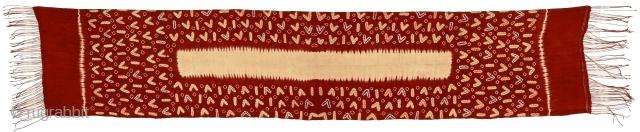 old Balinese silk plangi & tritik sash or breast cloth. Size 235x46cm. www.tinatabone.com
