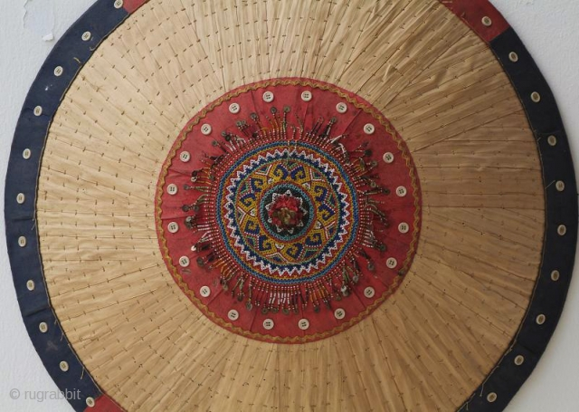 Old Sarawakian (Kenyah) sun hat. The Kenyah are one of the indiginous groups in Borneo belonging to the Orang Ulu, they are renowned for artistry in beadwork embellishments. More like this available.