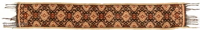 Geringsing/double Ikat ceremonial cloth, Tenganan Pageringsingan,Bali, Indonesia. Early 20th c. 153x23cm www.tinatabone.com