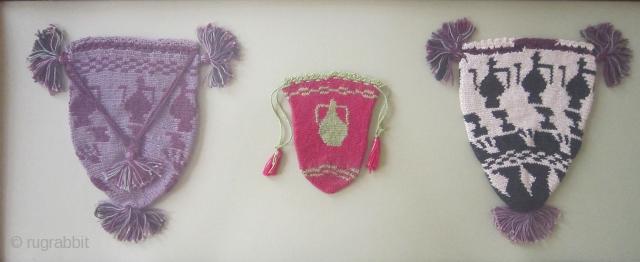 Three Anatolian pouches. (framed).  www.tinatabone.com
