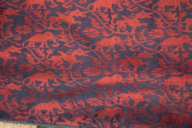 Silk ; India (Assam); Mogul period; 200x26 cm