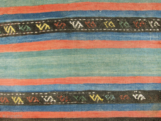 Outstanding, antique and colorful killim from Shahsavan, absolutely gorgeous with some sumac weaving as well, all colors are fantastic.