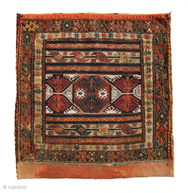Original, antique Shasavan sumac bag. lovely piece, No repair on the bag some repairs at the corner of the back killim. It isoffered at very reasonable price