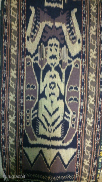 traditional Ikat cotton, indonesia , no: 169, size: 185*45cm, 20th century.