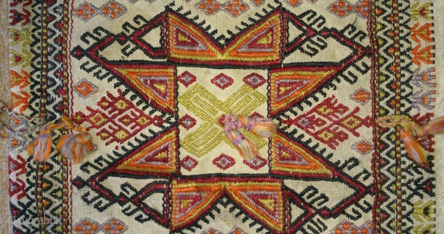 Antique Anatolian Bag, no: 128, size: 44*44cm, circa 1900 or later, wool and wool.