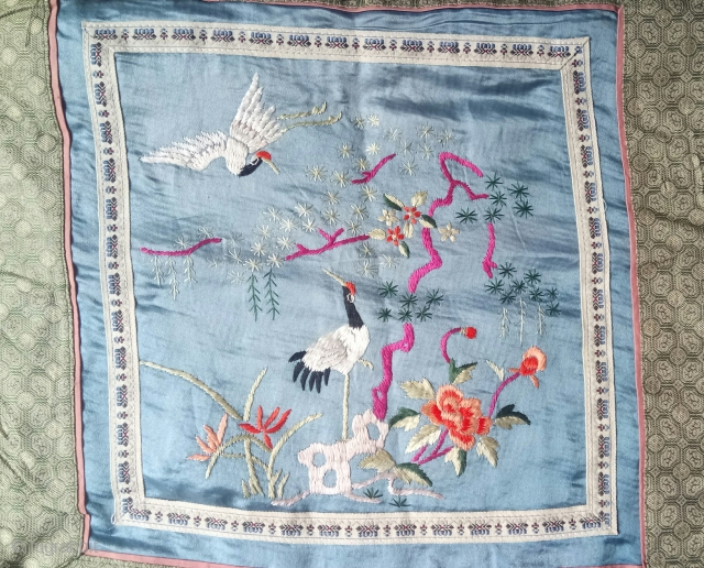 Chinese embroidery silk on silk