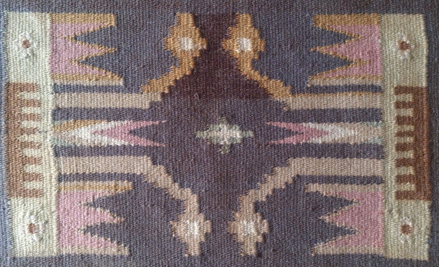 Antique Swedish Kilim, no: 313, size: 66*52cm, wool on cotton.
