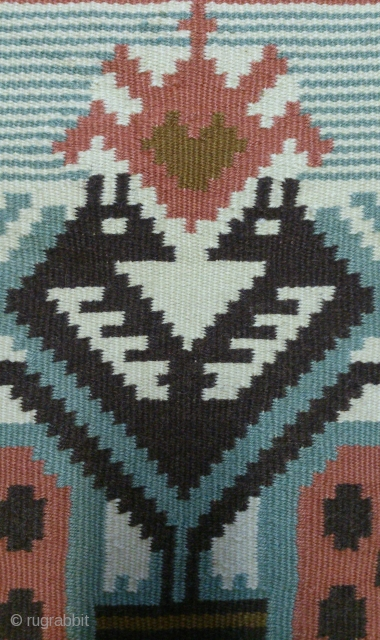 Antique Swedish Kilim, no: 265, size: 56*58cm, the tapestry very beautiful.