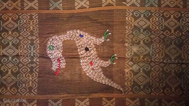 Sumba(eastern Indonesia) Ceremonial Weaving with Shells & Beads called Lau Wuti Kau.