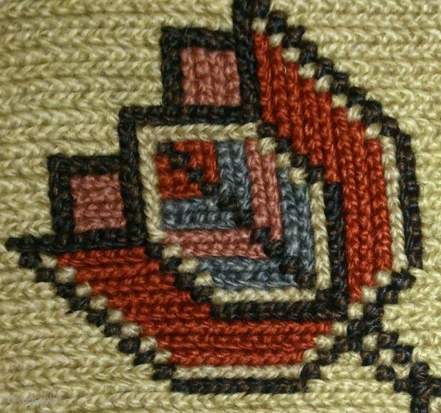 Antique pillow Swedish cross stitch, no: 207, size: 30*29cm, flower tulip design.