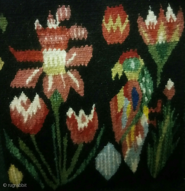 Swedish kilim, pictorial design.