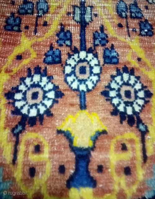 Antique Tehran rugs sampler( wagireh), very Rare.